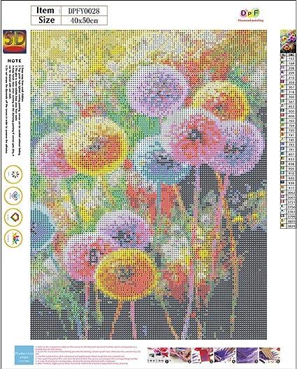 Full Drill Dandelion 5D DIY Diamond Painting Embroidery Cross Stitch Home Decor