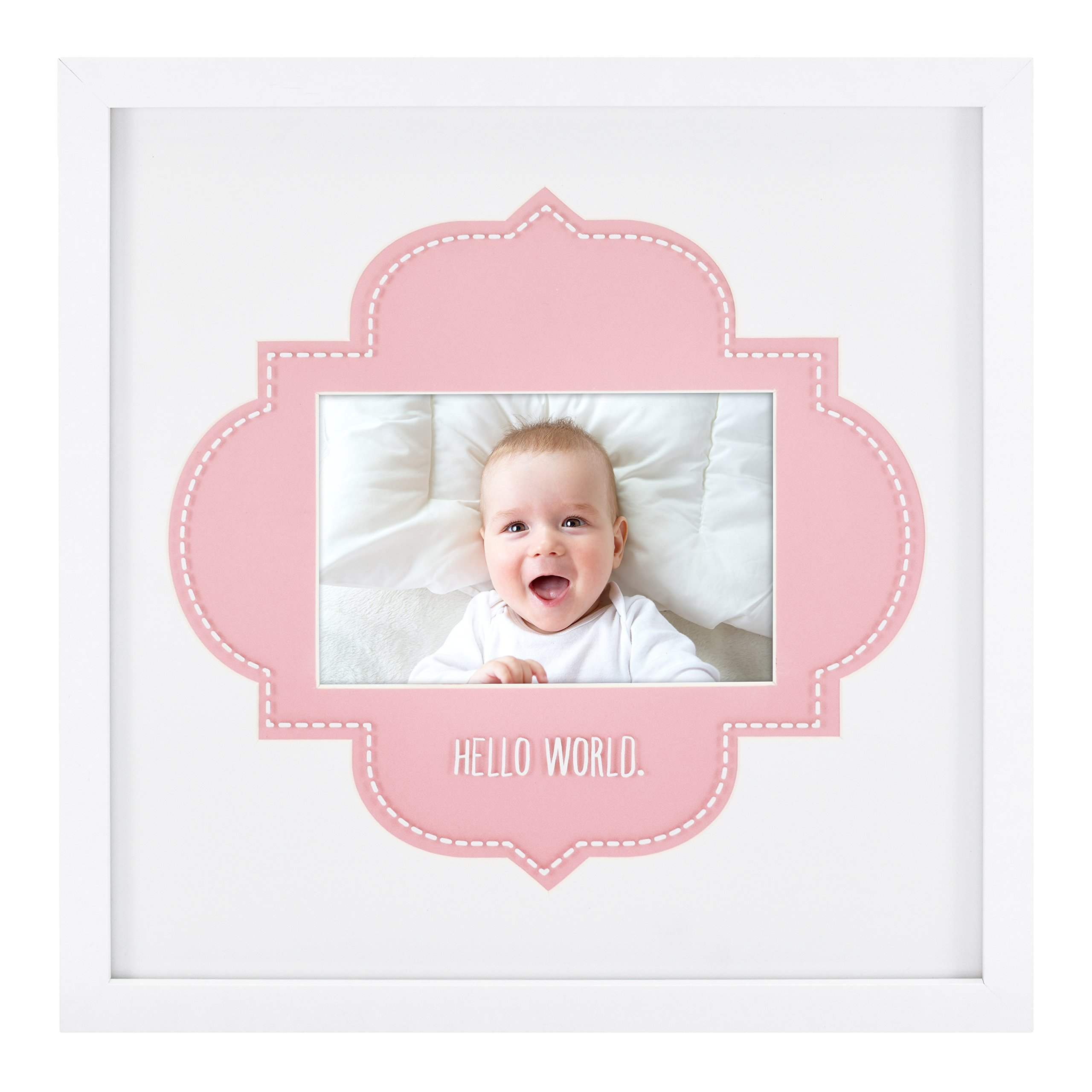 MCS Hello World Baby Frame with 4x6 Photo Opening