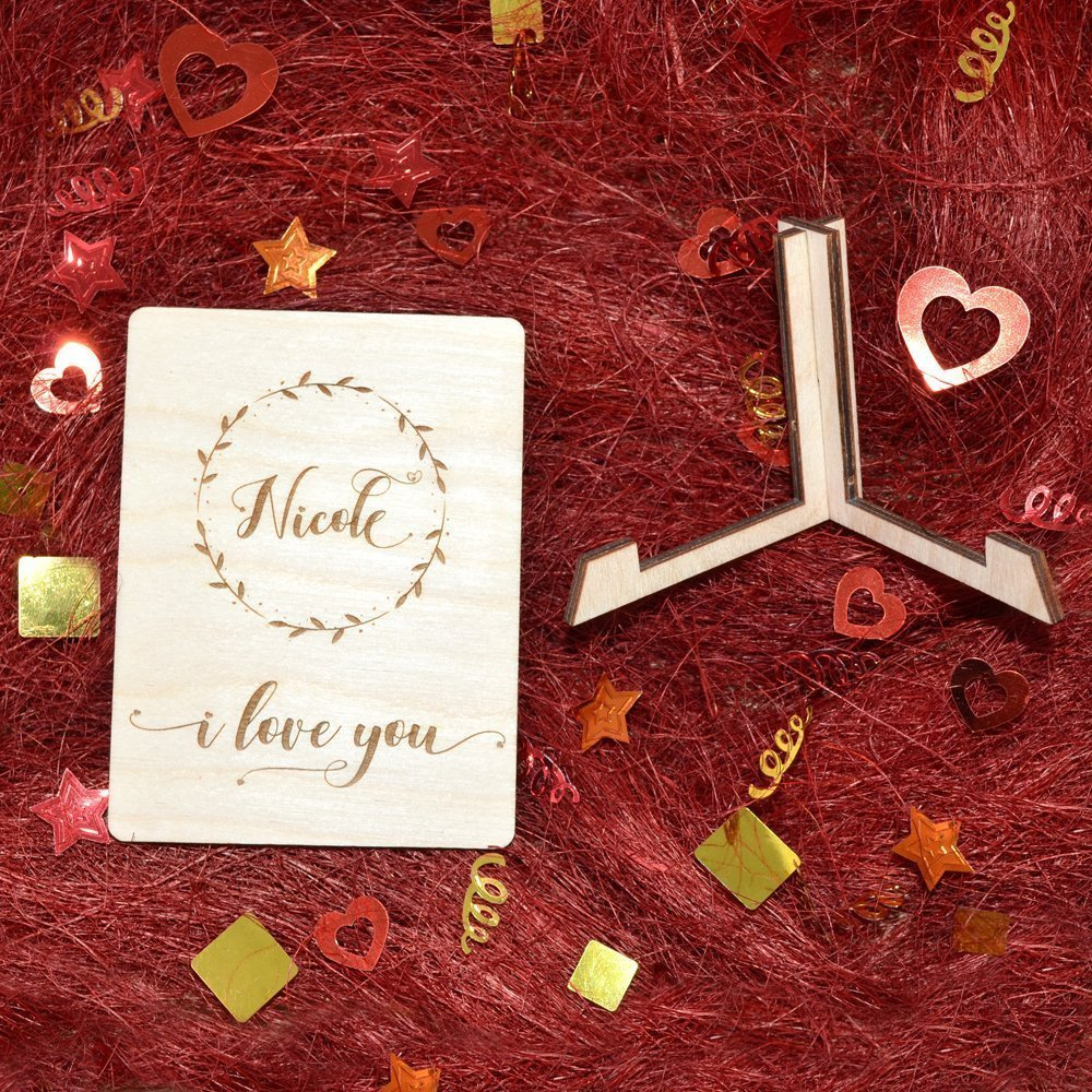 Valentines Day Wood Wood Love Card Wood Love Gift Valentines Day Decor Personalized Card Wood Ornament Personalized Wood