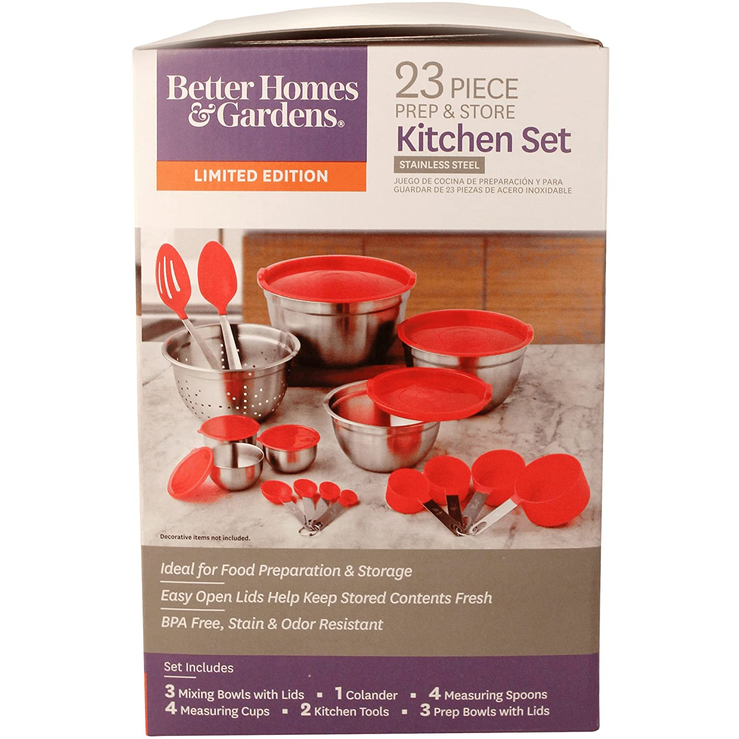 Amazon.com: Better Homes and Gardens 23-Piece Gadget and Utensil Set (Red): Kitchen & Dining