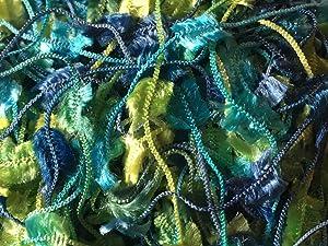 Turquoise Blue Greens Butterfly Yarn - Dark Horse Nubs #66, 20 Gram, 71 Yards