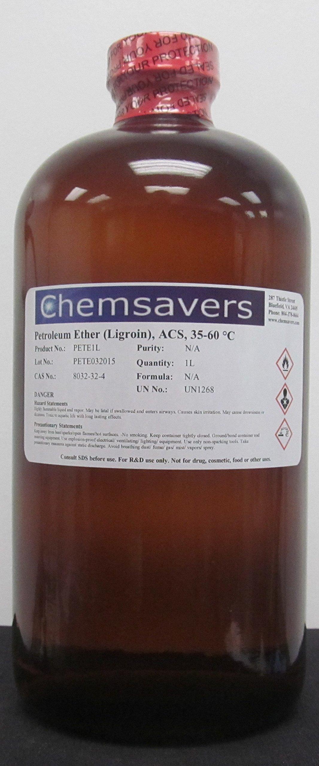 Petroleum Ether (Ligroin), ACS, 35-60°C, 1L (32oz)