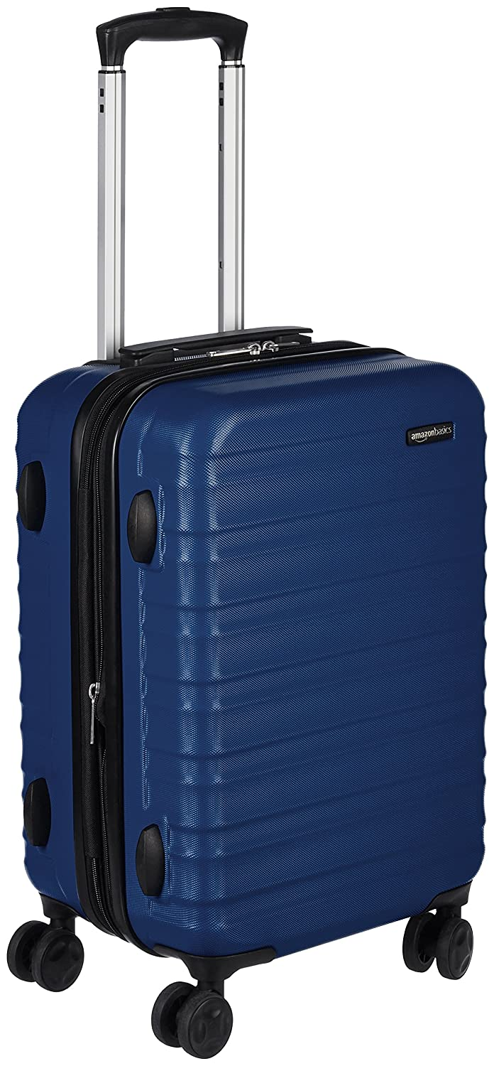 Basics Hardside Spinner Luggage - 20-Inch, Carry-On Black T1916-1