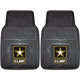 Fanmats Military 'Army' Vinyl Heavy Duty Car Mat - 2 Piece