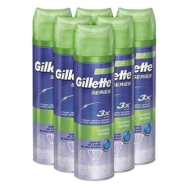 Gillette Series Shaving Gel Sensitive Skin 7 oz (Pack of 6)
