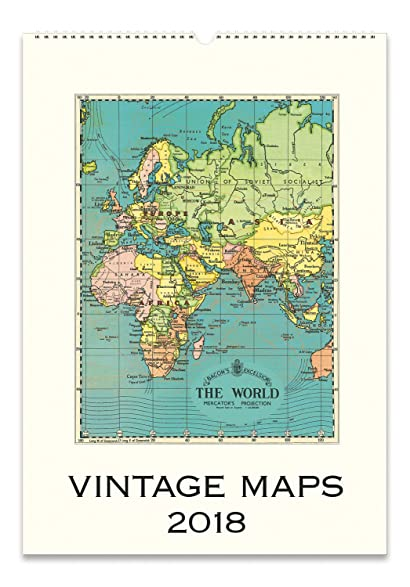Amazon cavallini papers vintage maps 2018 wall calendar home cavallini papers vintage maps 2018 wall calendar gumiabroncs Choice Image