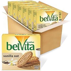 belVita Breakfast Biscuits, Vanilla Oat Flavor, 30 Packs (4 Biscuits Per Pack)