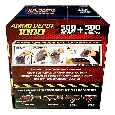 Xploderz 45114 Ammo Depot, 1000 Ammo Refills Black: Toys & Games