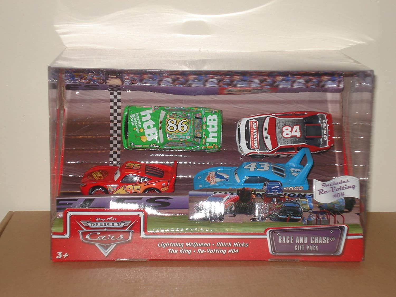 Disney / Pixar CARS Movie 1:55 Die Cast Race and Chase 4 Piece ...