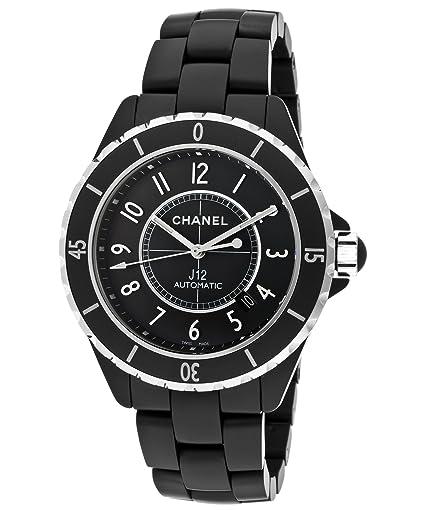 Chanel J12 - Esfera automática de cerámica negra mate, color negro: Amazon.es: Relojes