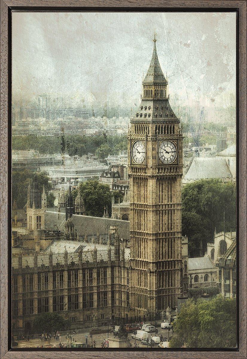 Cuadro enmarcado - Cuadro del Big Ben de Londres - Fotografía artística y moderna de alta calidad - Listo para colgar - Hecho a mano en España (40_x_60_cm)