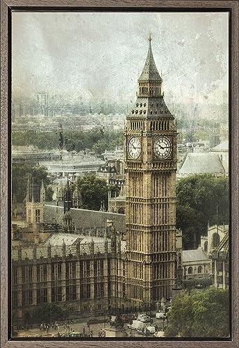 Cuadro enmarcado - Cuadro del Big Ben de Londres - Fotografía ...