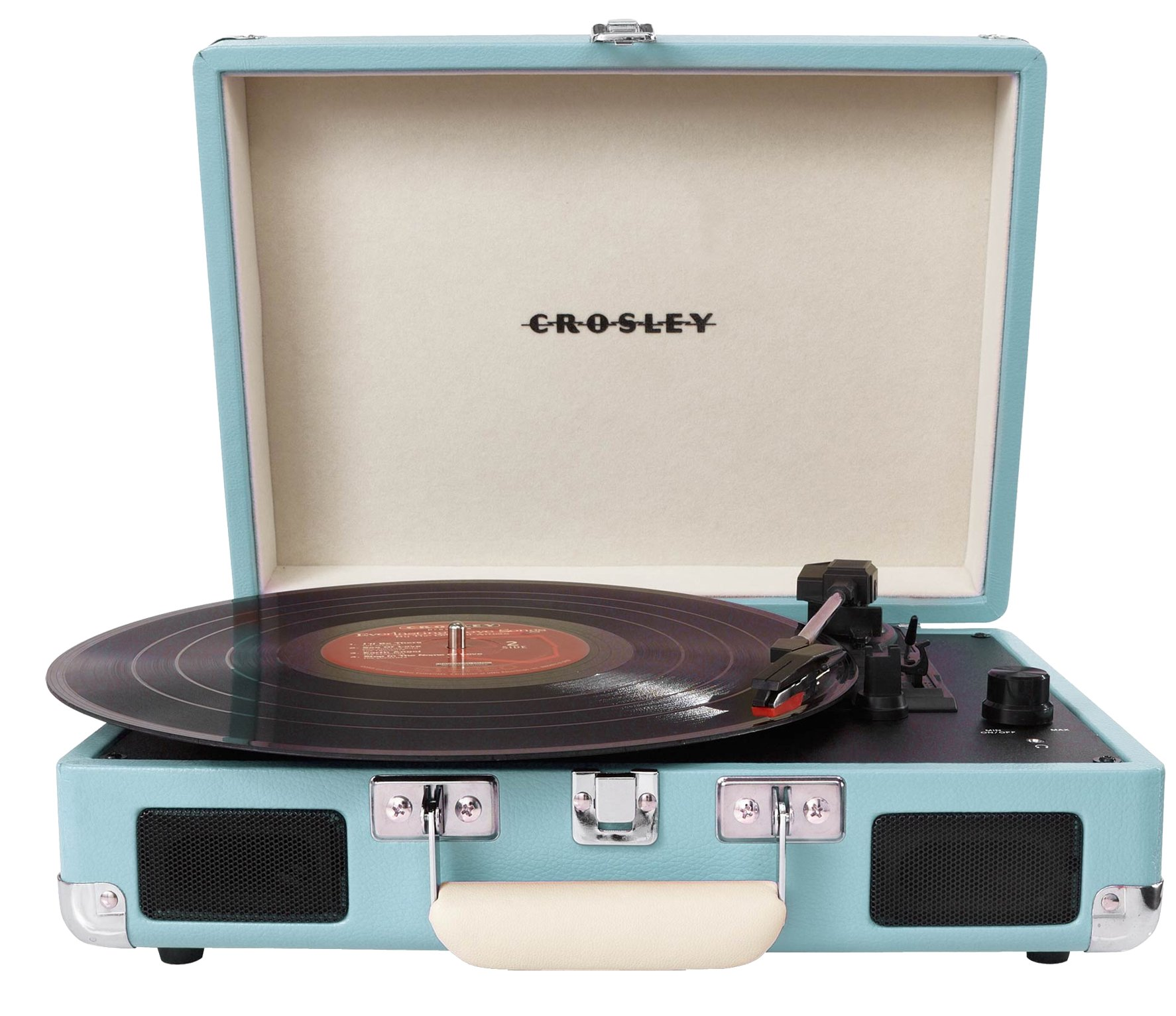 Turquoise Bluetooth Suitcase Style Turntable With FM Radio