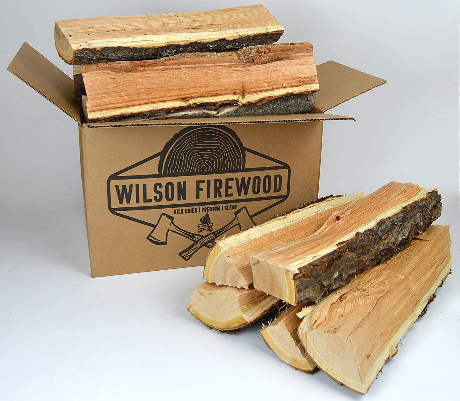 Wilson Enterprises Split Firewood- Birch, Maple, Oak, Apple, or Cherry. Natural Kiln Dried Firewood (Cherry)