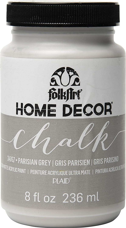 Amazon Com Folkart Home Decor Chalk Furniture Craft Paint In Assorted Colors 8 Ounce Parisian Grey
