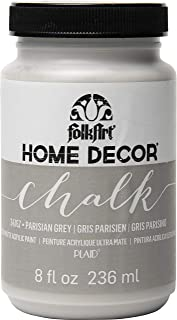 product image for FolkArt Home Decor Chalk Furniture & Craft Paint in Assorted Colors, 8 ounce, Parisian Grey