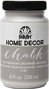 FolkArt 34167 Home Decor Chalk Furniture & Craft Paint in Assorted Colors, 8 ounce, Parisian Grey