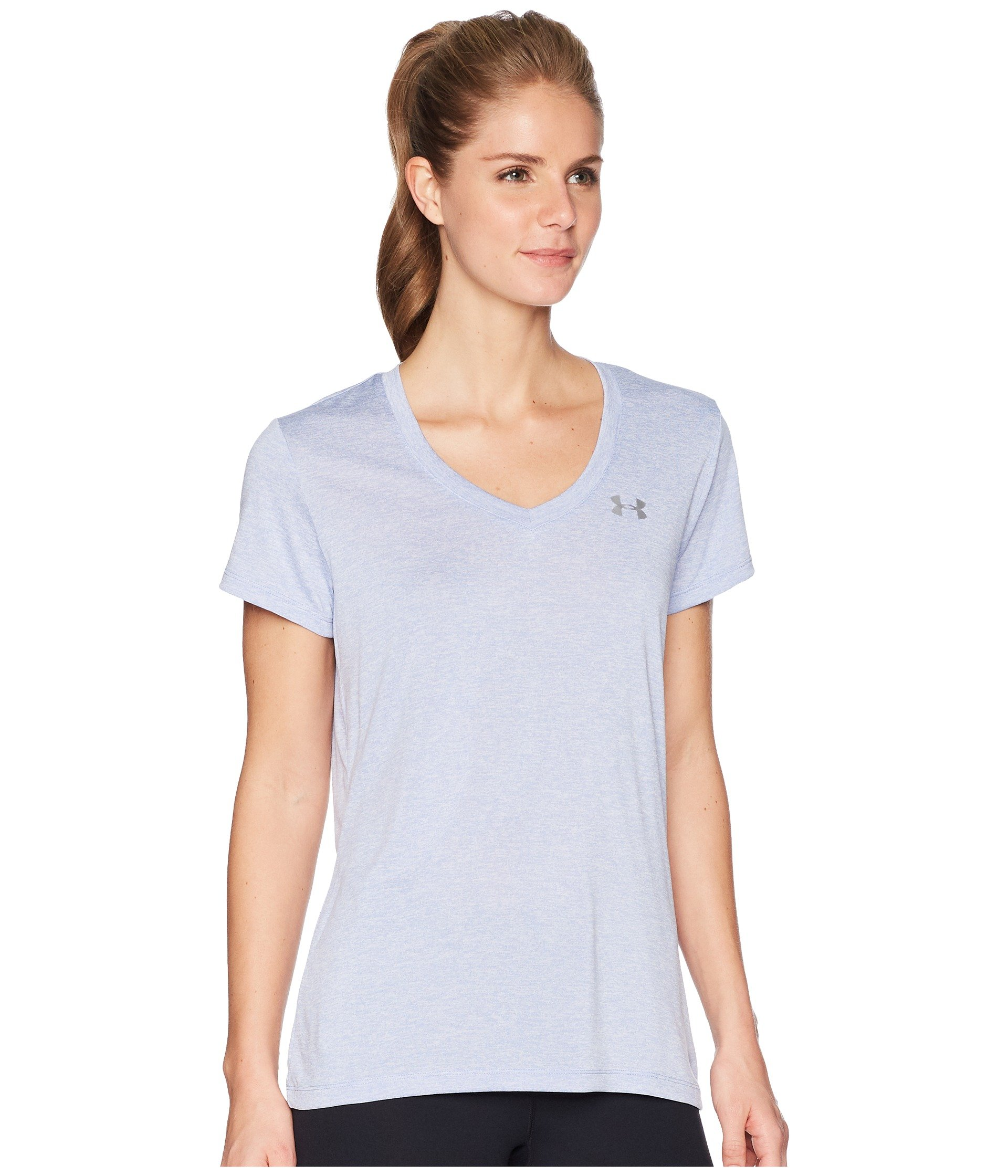 Under Armour Women's UA Tech¿ Twist V-Neck Talc Blue/Metallic Silver Small by Under Armour (Image #5)