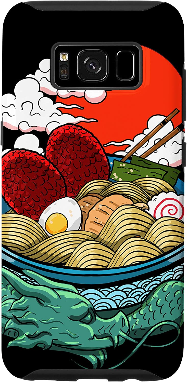 Galaxy S8 Ramen Noodles Japanese Dragon Red Moon Cool Food Anime Gift Case