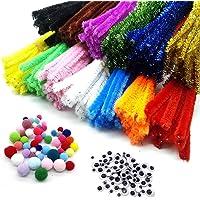 zooshine 260pcs limpiadores de tubos oruga varilla 13colores