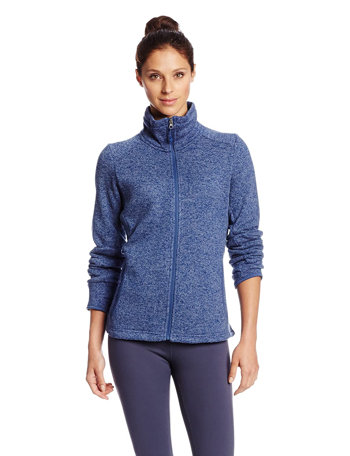 bluee Heather Charles River Apparel Women's Heathered Fleece Jacket