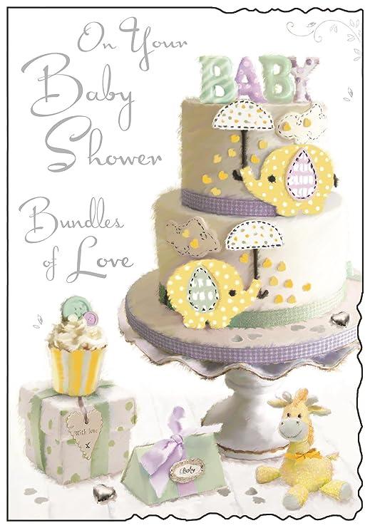 Tarjeta de felicitación de Baby Shower - paquetes de amor ...