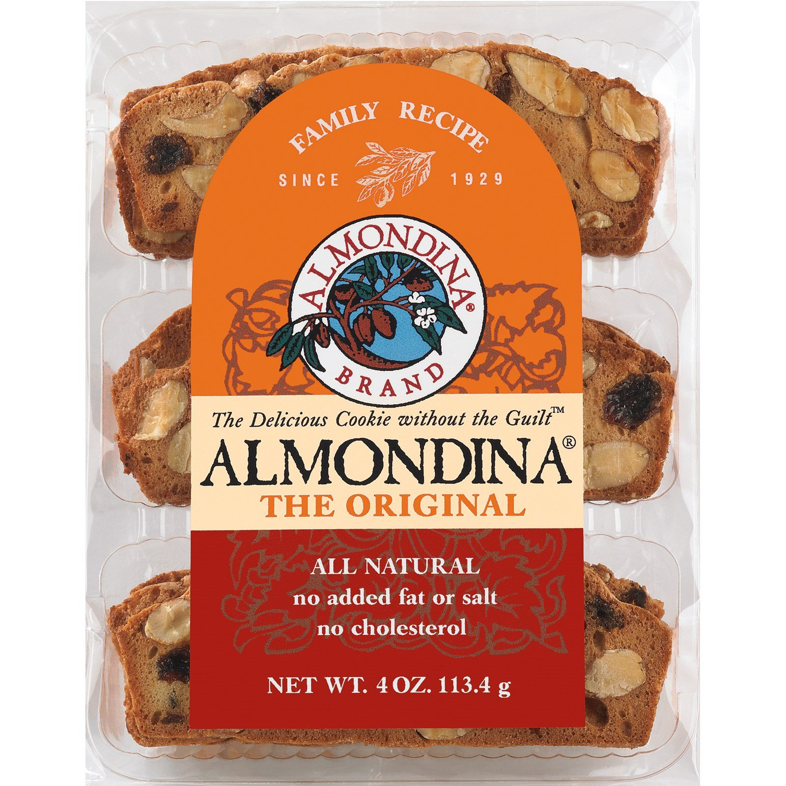 Almondina, The Original Almond Biscuits, 4 oz(Pack of 6)
