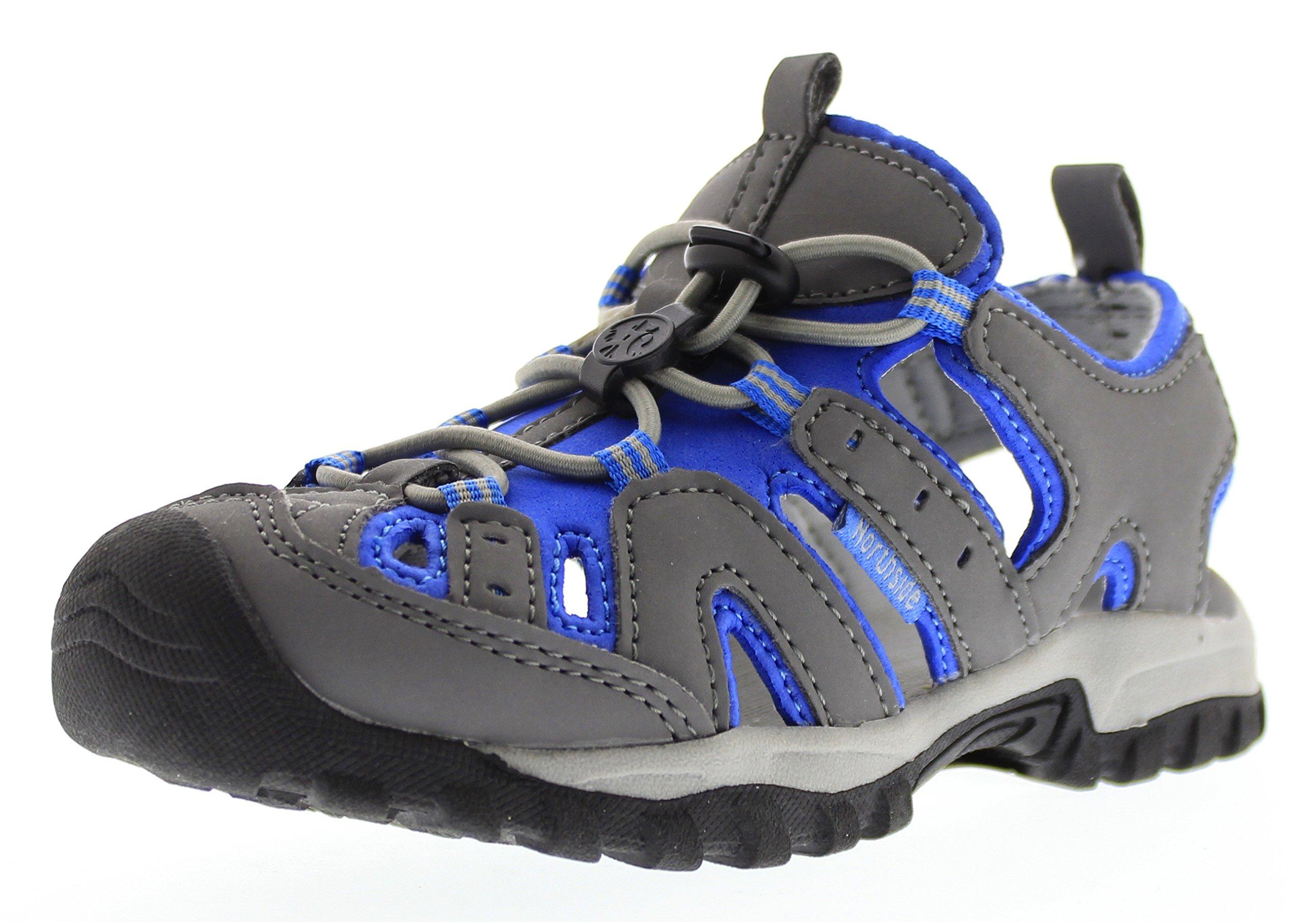 Northside Burke II Athletic Sandal Gray/Blue 1 M US Little Kid