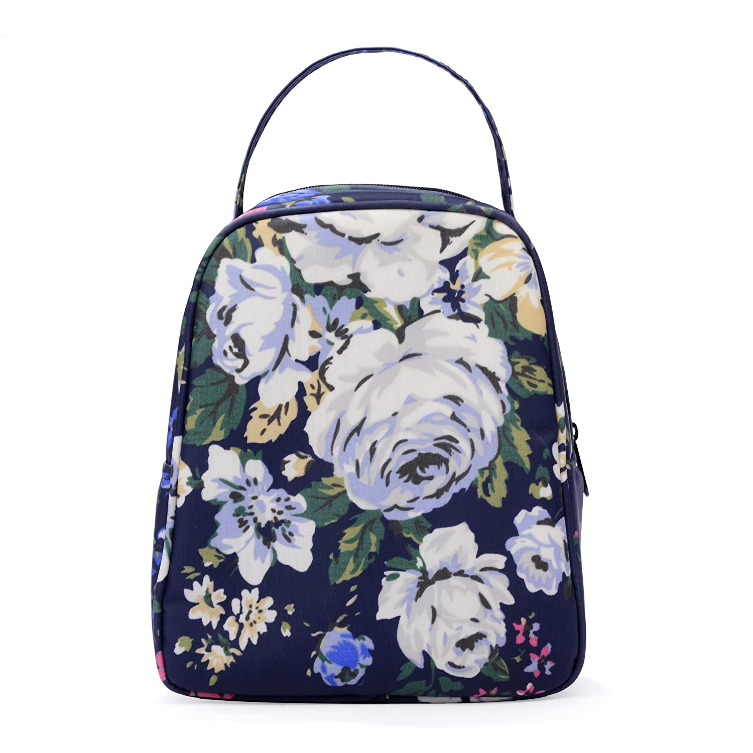 884d85489804 wonderful flower women insulated fashionable lunch bag flower Small Lunch  Bag Lunch Bunch (4Navy)