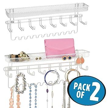 Amazoncom mDesign Hanging Fashion Jewelry Organizer for Necklaces