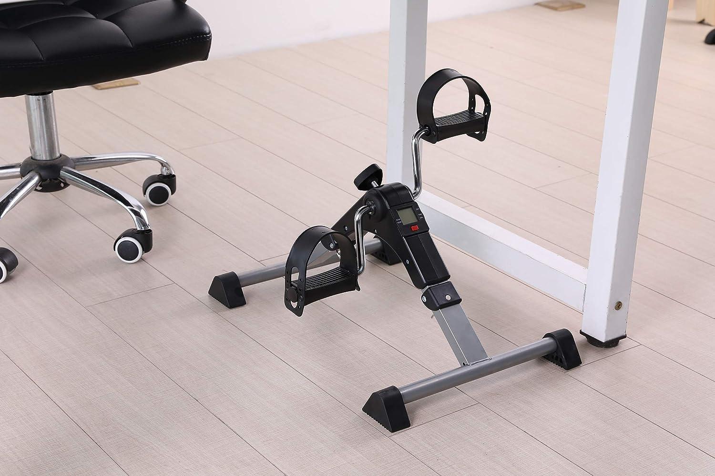 FITODO Mini Fahrrad Pedaltrainer f/ür Arm und Beintrainer Heimtrainer mit LCD-Monitor Faltbare
