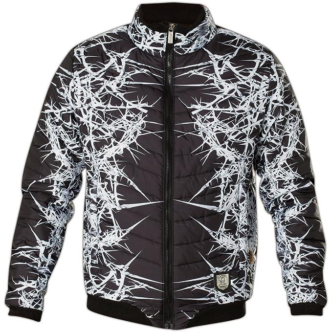"YAKUZA Herren Quilted Jacket Steppjacke JB 11026 /""Thorns/"" black//white schwarz"
