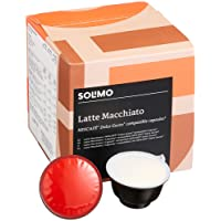 Marchio Amazon- Solimo Capsule Latte Macchiato, compatibili Dolce Gusto - caffè certificato UTZ- 96 capsule (6 x 16)