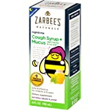 Zarbee's Naturals Children's Cough Syrup* + Mucus Nighttime, Grape Flavor, 4 Fl Oz (Pack of 1) Bottle