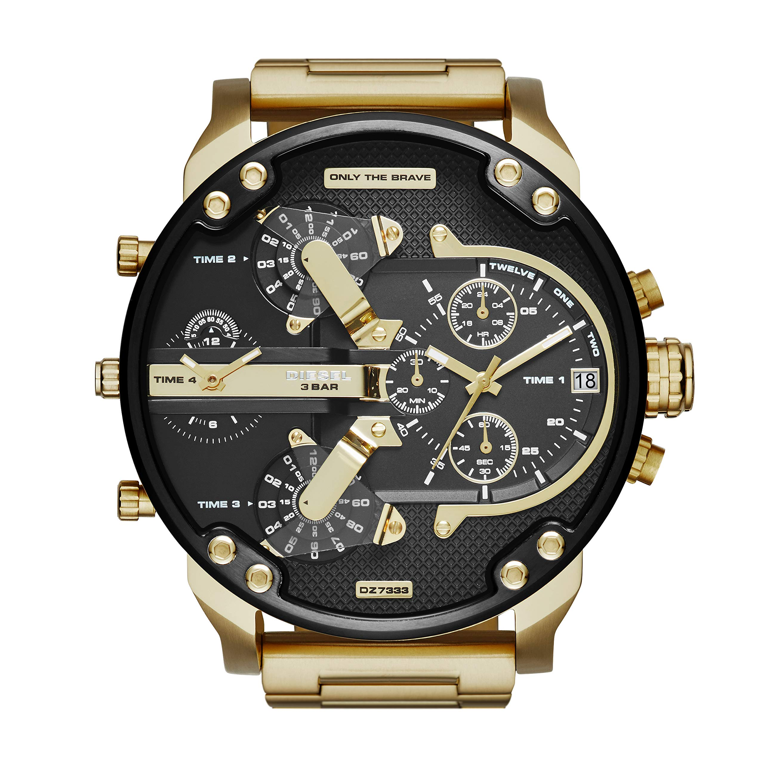 Diesel Men's Mr Daddy 2.0 Quartz Stainless Steel Chronograph Watch, Color: Gold-Tone (Model: DZ7333) by Diesel