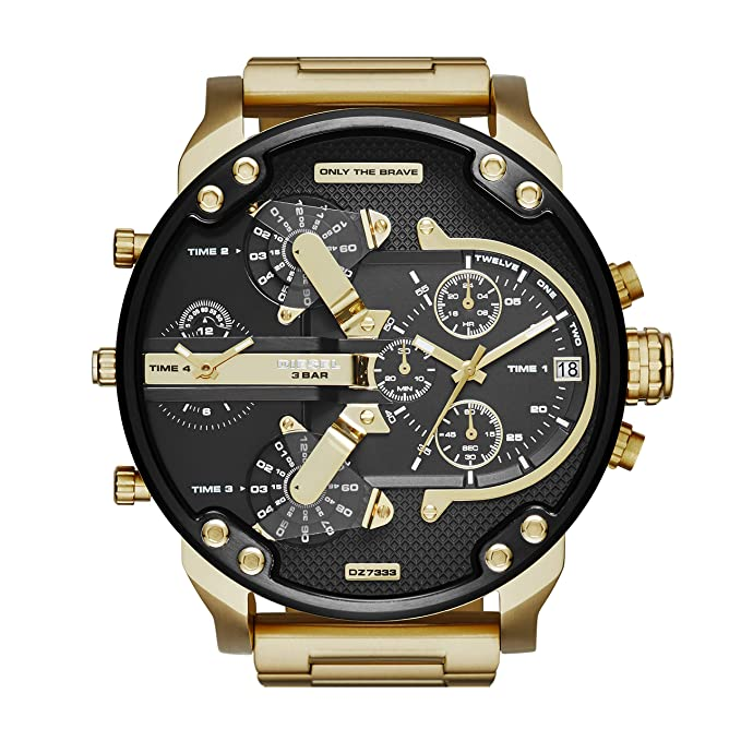 ba01219f2 Amazon.com: Diesel Men's Mr Daddy 2.0 Quartz Stainless Steel Chronograph  Watch, Color: Gold-Tone (Model: DZ7333): Diesel: Watches