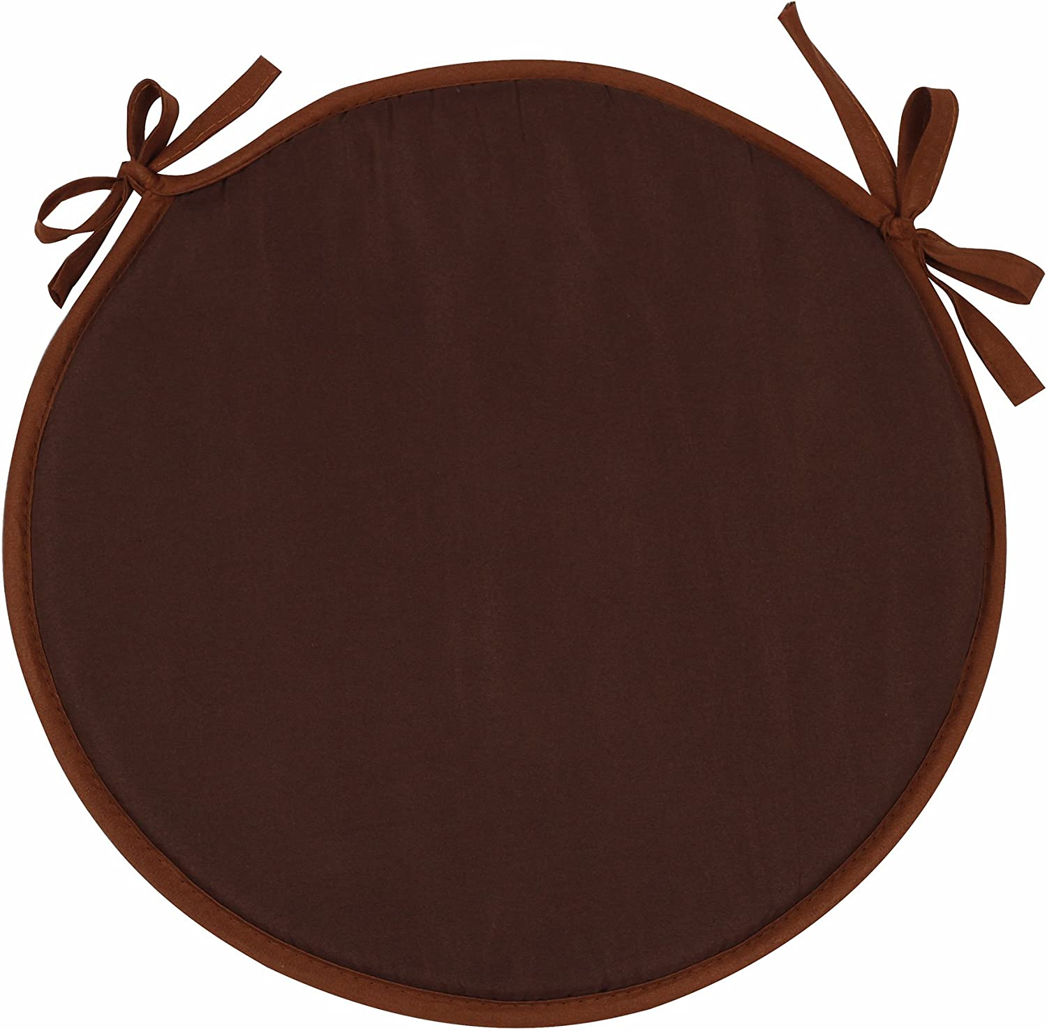 Amazon.com: SimpVale Set Of 4 Seat Cushions With Ties - Round Chair Pads For Armchairs Garden Outdoor Indoor Chairs (Diameter 15inch/Thickness 1.2inch, Brown): Kitchen & Dining