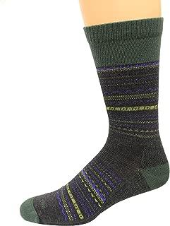 product image for Farm To Feet 100% American Merino Crew Socks 1 Pair, Conover, Green, Men's 10-12.5