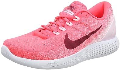 newest 06746 98c07 Nike Damen WMNS Lunarglide 9 Laufschuhe Orange (Hot Punch/Arctic Pink/White/