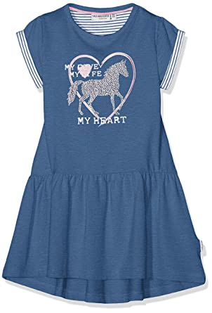 Salt And Pepper Madchen Kleid Dress Horses Uni