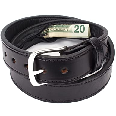 Hidden Money Pocket Travel Leather Belt at Amazon Men s Clothing store  47b829a8929b4
