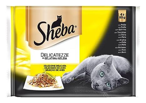 Sheba Selección de Aves Bolsitas para Gatos en Gelatina - 340 gr