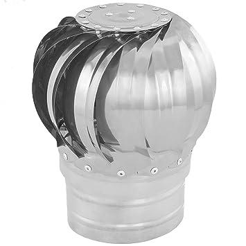 PrimeMatik KH040-VCES Sombrero Extractor de Humos galvanizado Giratorio para Tubo de 100 mm de diámetro: Amazon.es: Jardín