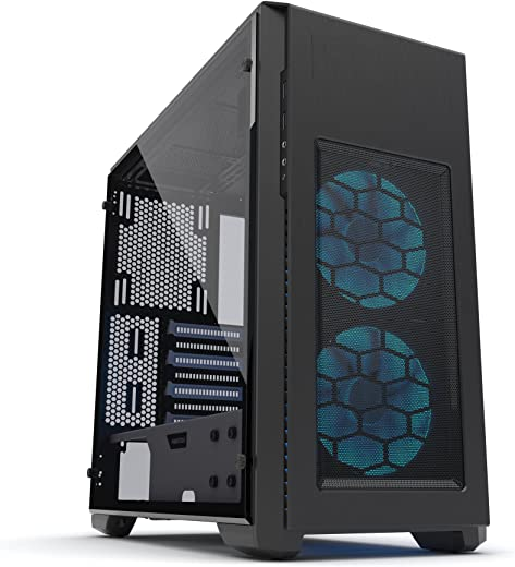 Phanteks Pro M Tempered Glass, Black/White, PH-ES515PTG_SWT""