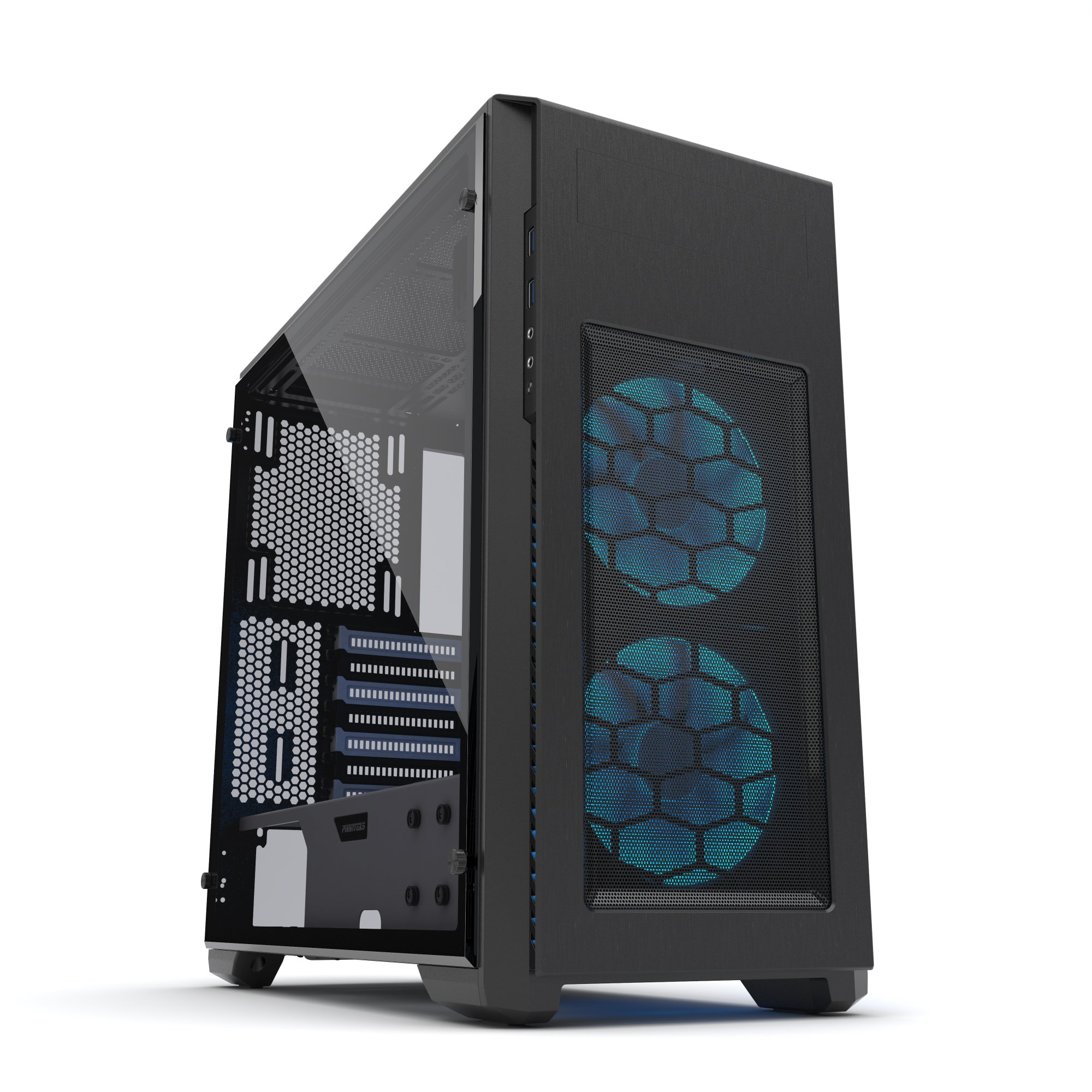 Phanteks PH-ES515PTG_SWT Enthoo Pro M SE with 2x Halos RGB Fan Frames Integrated RGB lighting Tempered Glass Black/White by Phanteks