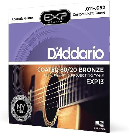 DAddario EXP13 - Juego de cuerdas para guitarra acústica ...