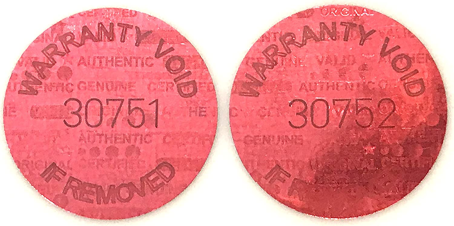 Unique 1,000 Red Round Hologram Tamper Evident Security Labels//Stickers Tinted Covert Laser Serialized 16mm 0.625 Diameter Size