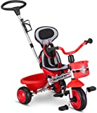 "Schwinn Roadster Kids Tricycle, Easy Steer 4 in 1 Tricycle , Red,41"" x 20"" x 41"""