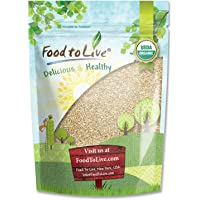 "Organic Sesame Seeds, 4 Pounds €"" Hulled, Non-GMO, Kosher, Raw, Vegan"