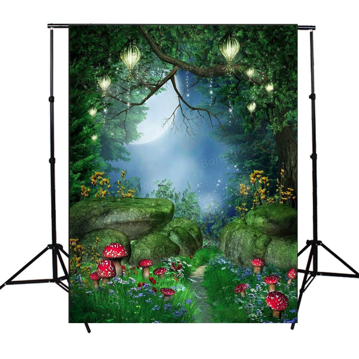 Fairy Tale World Green Forest Photography Background Cloth Backdrop Photo Props - Studio Equipments Backdrops - 1 x Wireless Controller, 1 x USB Cable